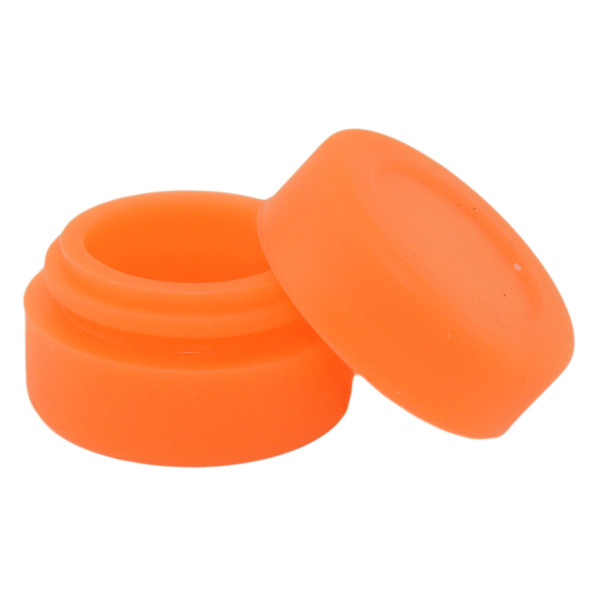 Silicone Container Containers Silicone Jars Tiny 3ml Orange Open